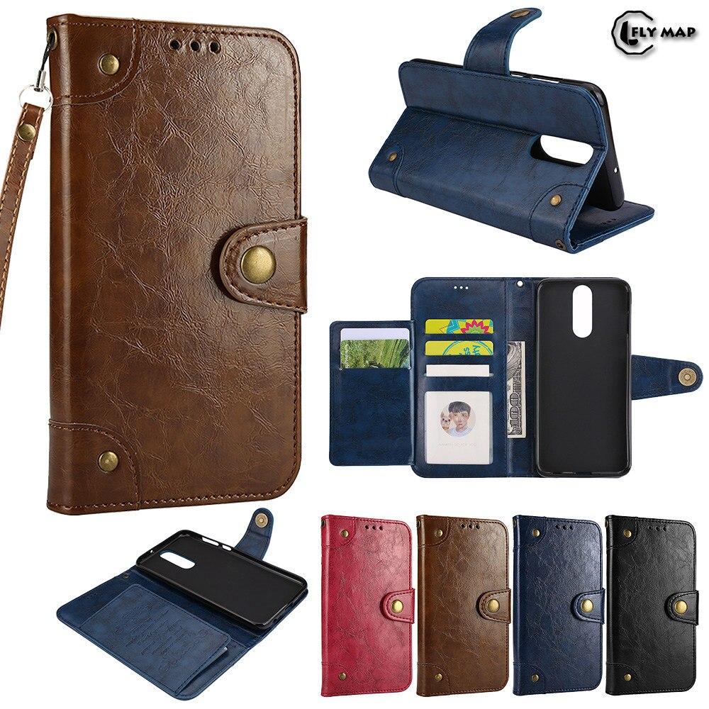 Coque For Huawei Nova 2i RNE L01 L21 Case Wallet Flip PU Leather Cover For Huawei Nova2i RNE-L01 RNE-L21 Retro Oil Wax Flip Bag