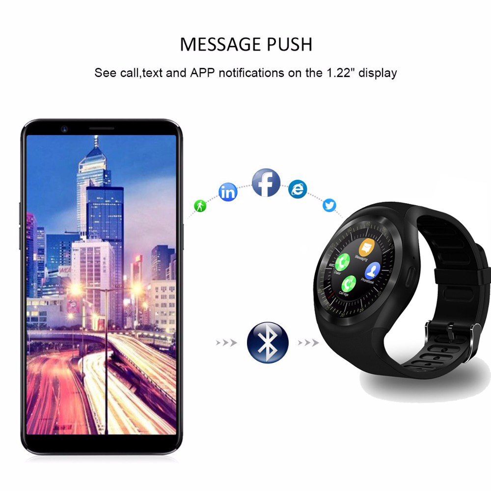 Image 4 - Bluetooth Smart Watch Phone Mate Round Screen Smartphone SIM Call Dial Pedometer Smartwatch for Android IOS reloj inteligente-in Smart Watches from Consumer Electronics