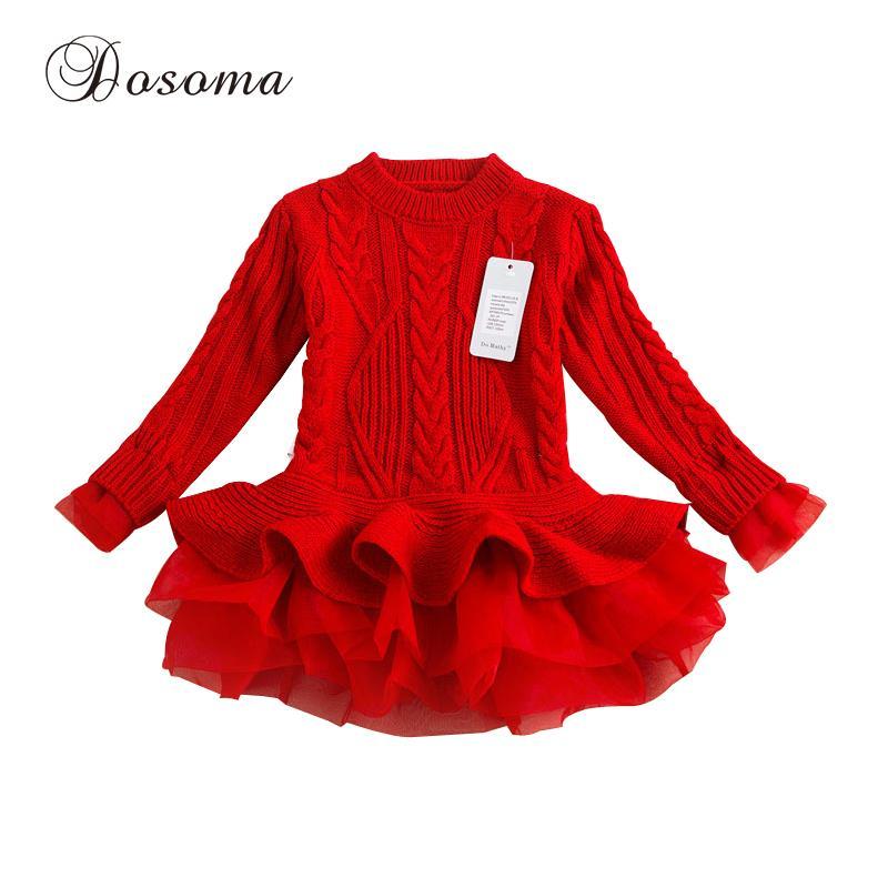 aa0beaf77 Kids new fashion designer girl sweater clothing dress winter organza ...