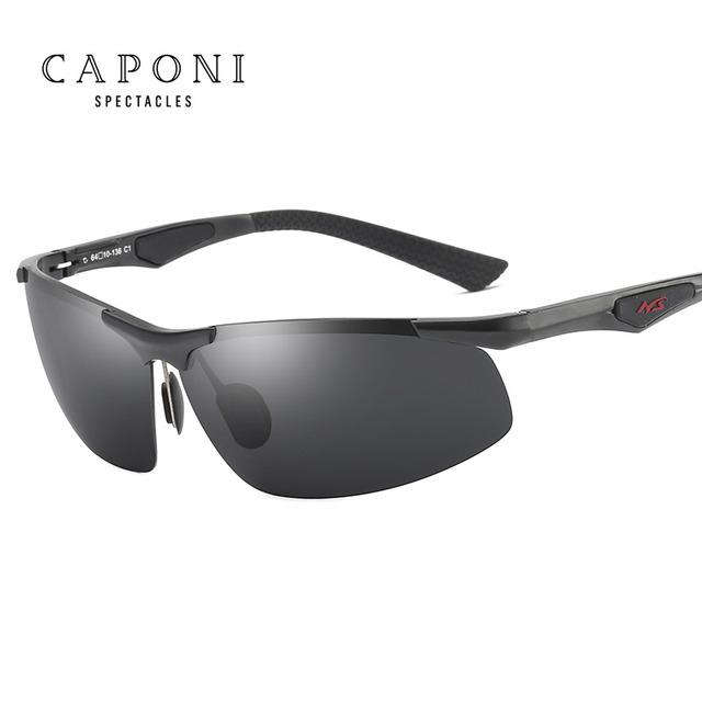 CAPONI Aluminum Magnesium Alloy Polarized Goggles Men Sunglasses Driving Sun Glasses Male Oculos Gafas De Sol 3009
