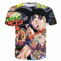 Men Women Fashion Anime t shirts Dragon Ball Z/Yu Gi Oh Monster 3D t shirt Magazine Cover For Goku tshirts Hip Hop Tops Tees