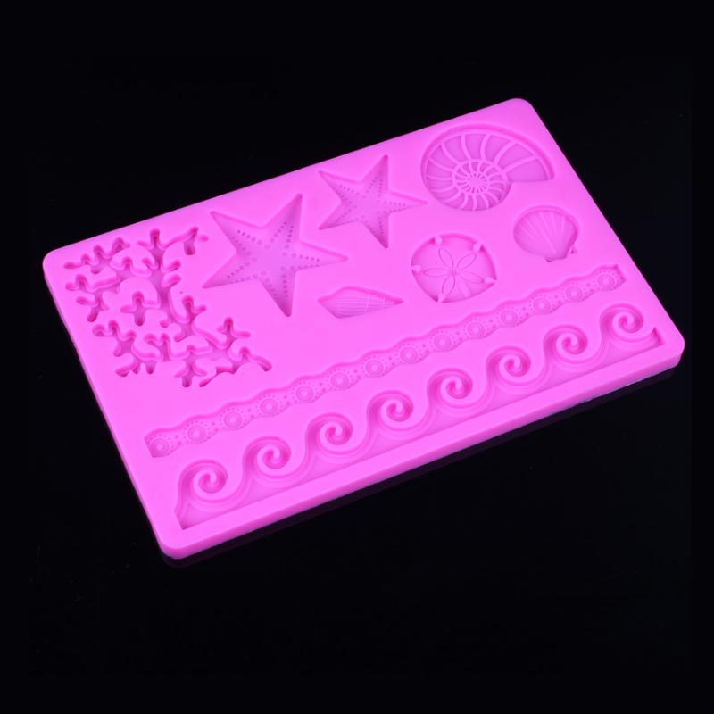 The Underwater World Silicone Soap Clay Molds Fondant Cake Decor DIY Chocolate Candy Cookie Sugarcraft Ice Mould Baking Tool 8 image
