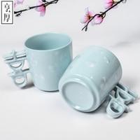 Il trasporto Libero 2016 Creativo regalo Di Natale In Ceramica tazza di Latte Caldo coppia tazza di caffè bella 6 regalo di Nozze