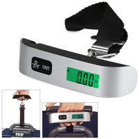 Luggage Scale Electronic Digital Scale Portable Suitcase Travel Bag Hanging Scales Balance Weight Thermometer LCD Display Travel Accessories