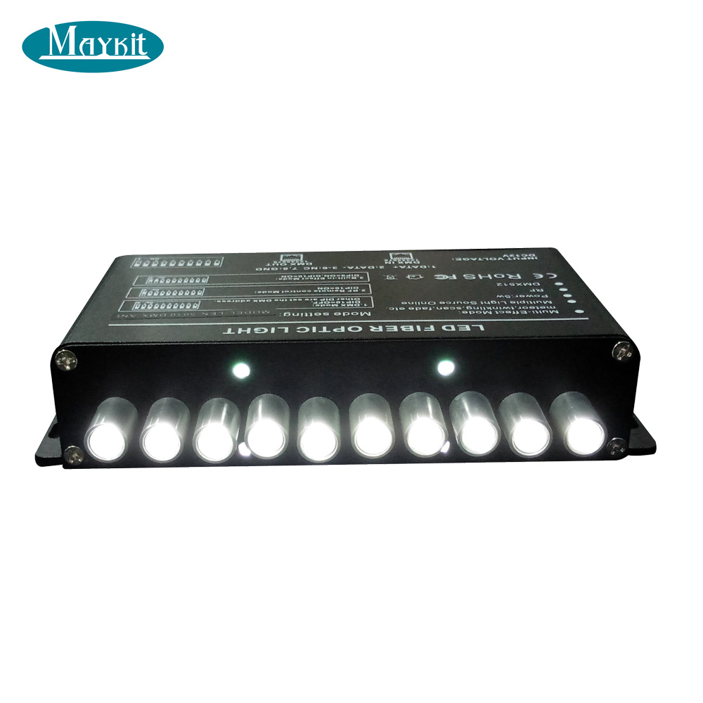 Maykit Led Meteor Light Engine With Pulsar Illuminator For Meteor Shower, Twinkle Effect, Rain Shower Fiber Optic Lighting