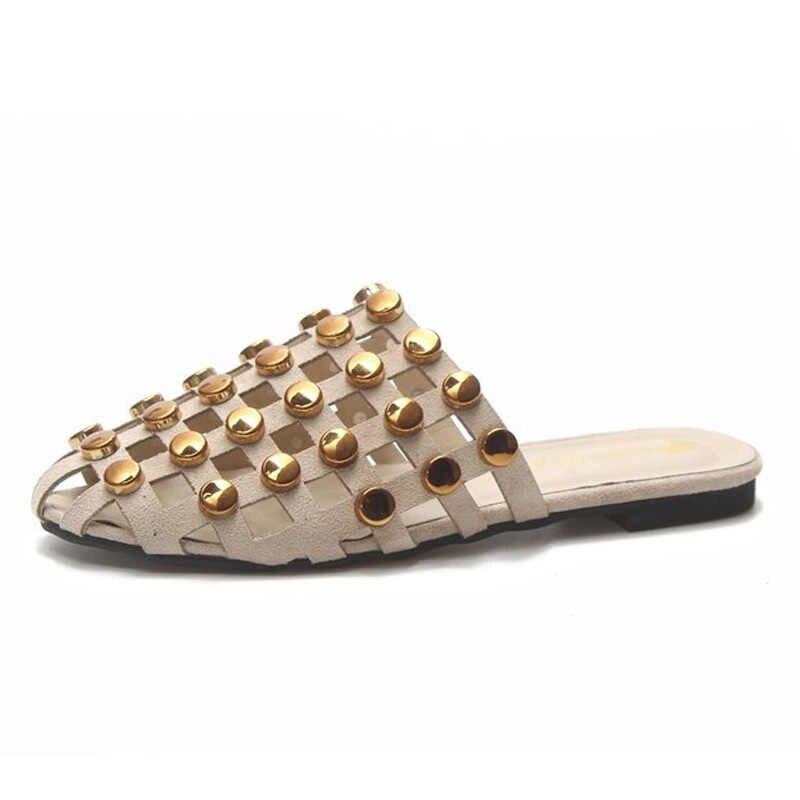 Tangnest femmes pantoufles 2018 été nouvelle mode cristal évider plage diapositives en plein air chaussures décontractées femmes tongs XWT1243