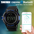 SKMEI Men Automatic Pedometer Watch Fashion Bluetooth Datejust Army Military Wristwatch Top Luxury Mens Famous Waterproof Clock