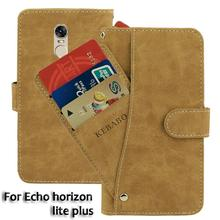 Vintage Leather Wallet Echo horizon lite plus 5.7 Case Flip Luxury Card Slots Cover Magnet Stand Phone Protective Bags vintage leather wallet echo fusion 6 case flip luxury card slots cover magnet stand phone protective bags