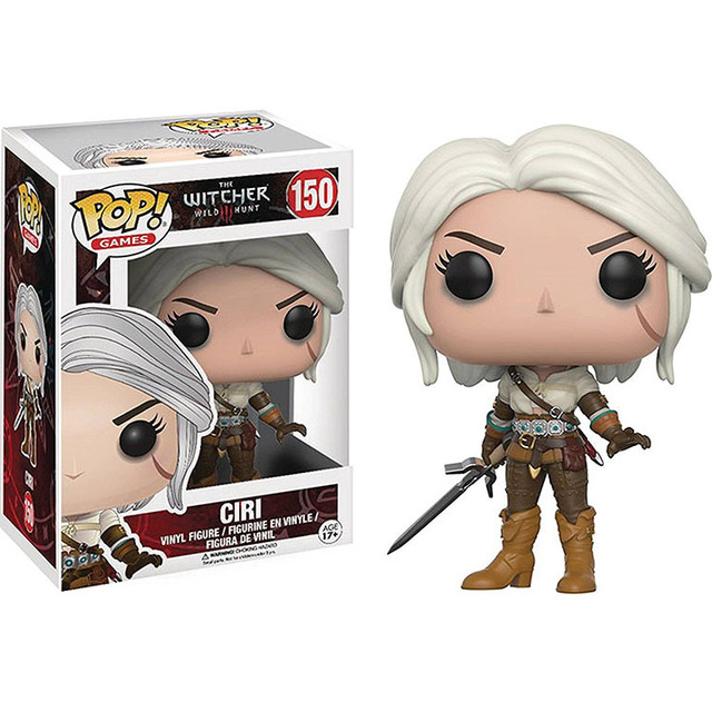 Funko pop The wicher 3 & CIRI Characters Vinyl Action & Toy Figures Collectible Model Toy for Children (no box)