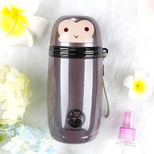 цена на New Arrival Cute Monkey Thermos Cup Bottle Stainless Steel Thermocup Vacuum Coffee Bottle Thermal Mug 280ml Funny Gift
