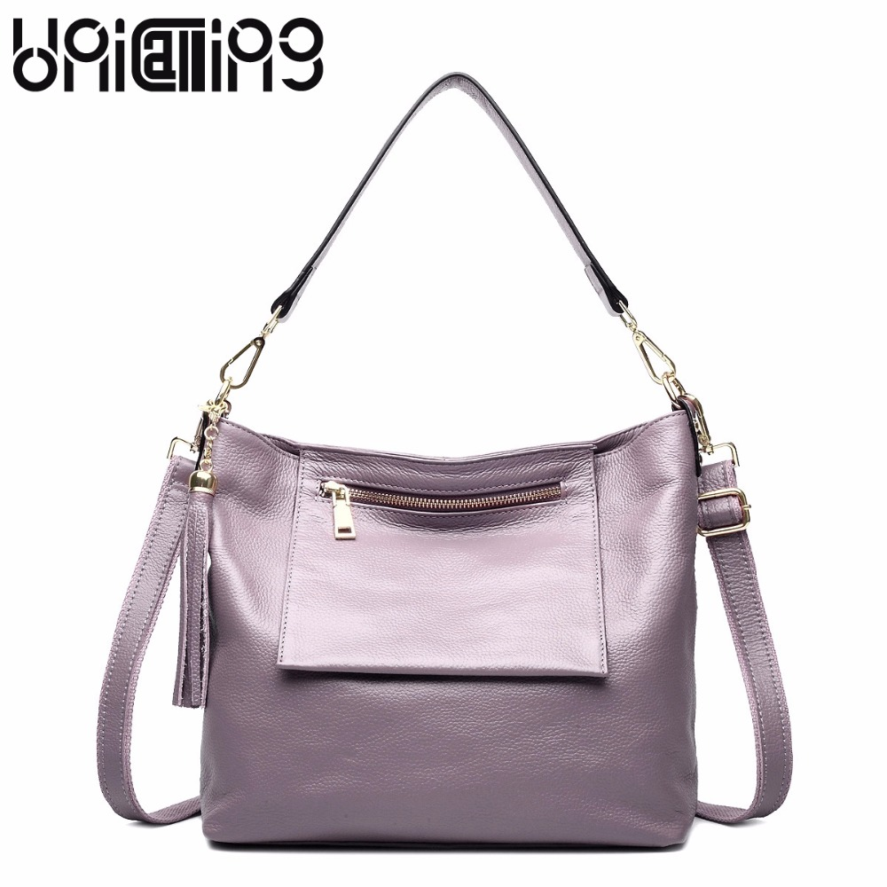 New style ladies handbags Simple leisure solid color All-match tassel Package outsourcing genuine leather women messenger bagNew style ladies handbags Simple leisure solid color All-match tassel Package outsourcing genuine leather women messenger bag
