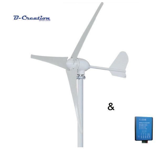 500 watt 12 v/24 v/48 v 3/5 klingen horizontale wind turbine generator heimgebrauch + HOME VERWENDEN wasserdichte wind ladegerät controller