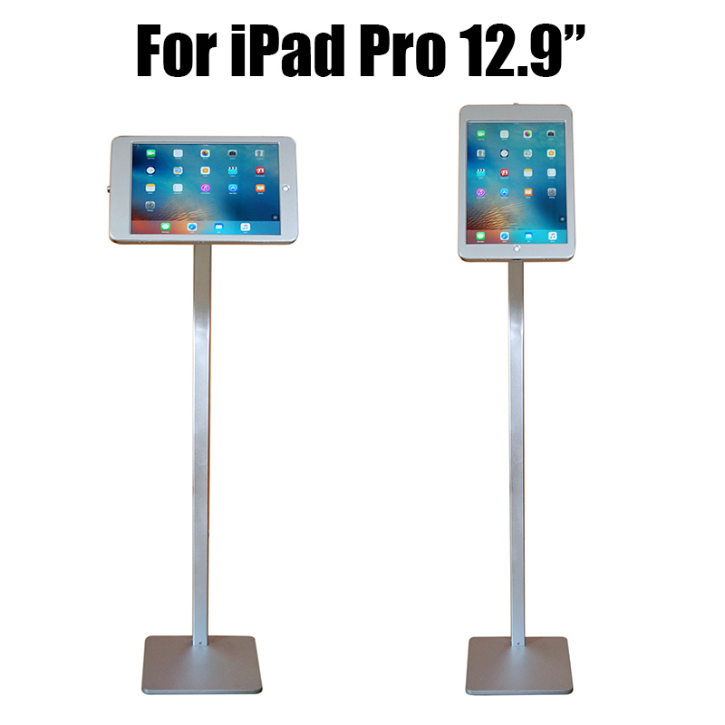 Tablet security lock ipad floor stand pad display enclouse case bracket kiosk anti theft housing for ipad pro 12.9