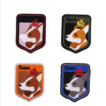 The Dog Animal Head Patch Embroidered Patches For Clothing Iron On Close Shoes Bags Badges Embroidery