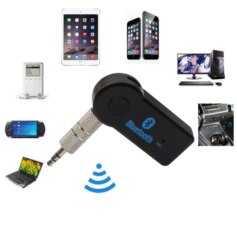 E5 Durable Wireless Bluetooth 3.5mm Car Aux Audio Stereo Music Receiver Adapter+Mic For PC