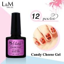12Pcs Free Shipment Gelartist Brand Candy Cheese Gel Fashion Color 30 Days Long Lasting DIY Nail Art