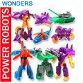 Promoção! ABS Super Deformação enviar com diferentes tipos de carro helicóptero Lutador Robot action figure super boneca meninos meninas brinquedo