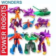 Акция! ABS Супер Деформация отправить с различных видов автомобилей вертолет Истребитель Робот фигурку супер куклы мальчики девочки игрушки