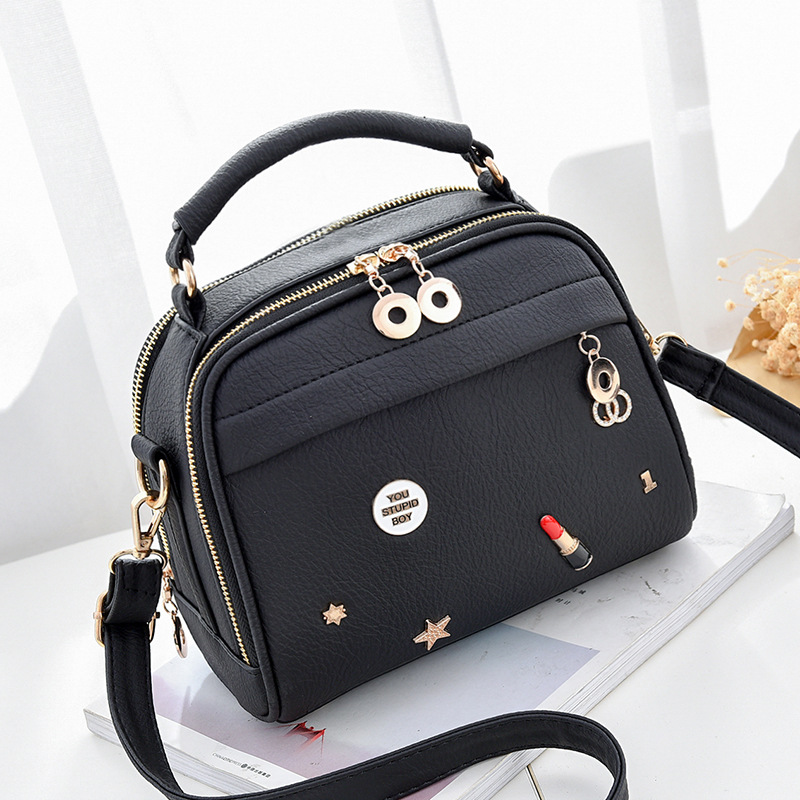DALFR Women Crossbody Bag Pu Leather Purse Luxury Brand Shoulder Bags Ladies Small Handbag Women Messenger Bags