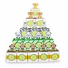 Baby Shower Favors Safari Animal Wild Jungle Favor Box Candy Box 24PCS/pack Souvenir Boy/Girl Kids Event & Party Supplies