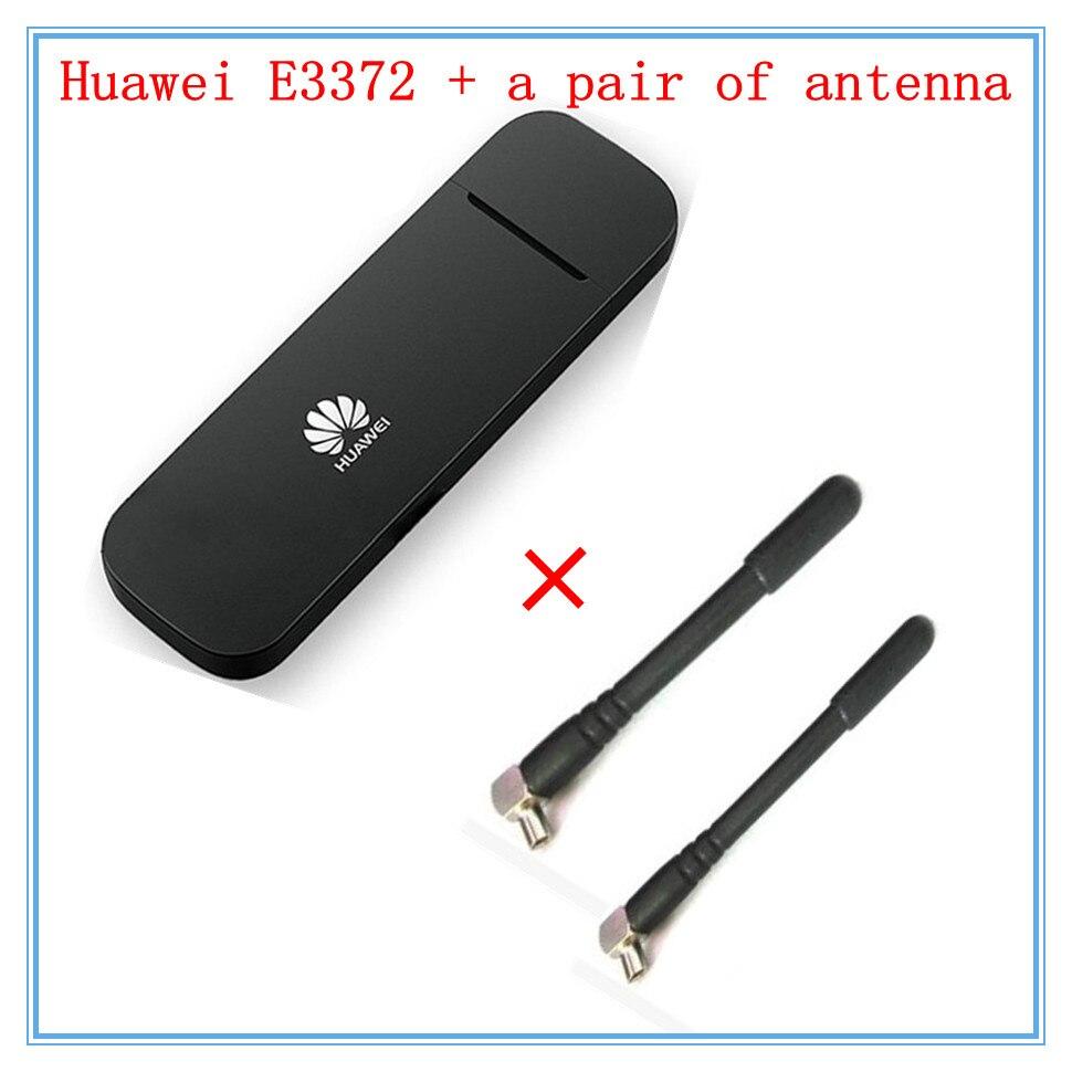bilder für Entsperrt huawei e3372 (plus ein paar antenne) 4G LTE 150 Mbps USB Modem 4G LTE USB Dongle USB Stick Datacard