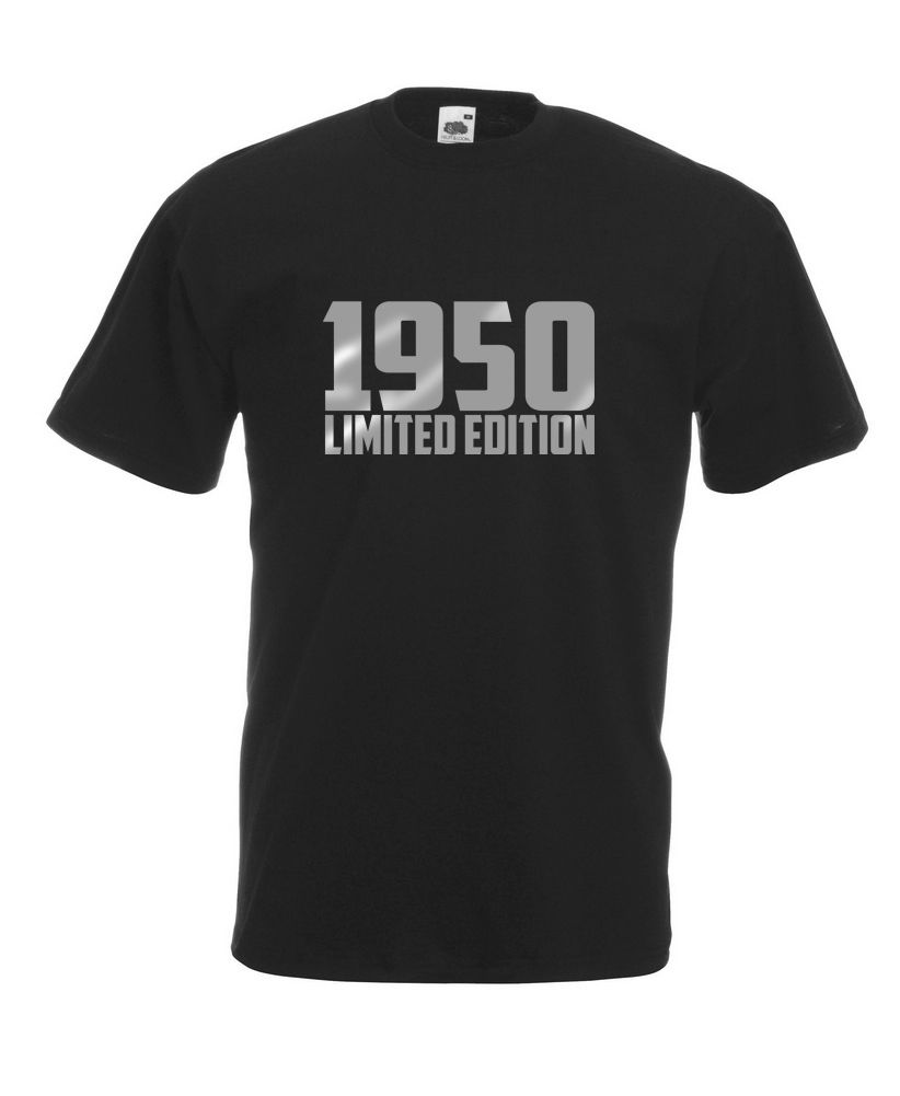 1950 Limited Edition Silver Text Cool T-SHIRT ALL SIZES # Black