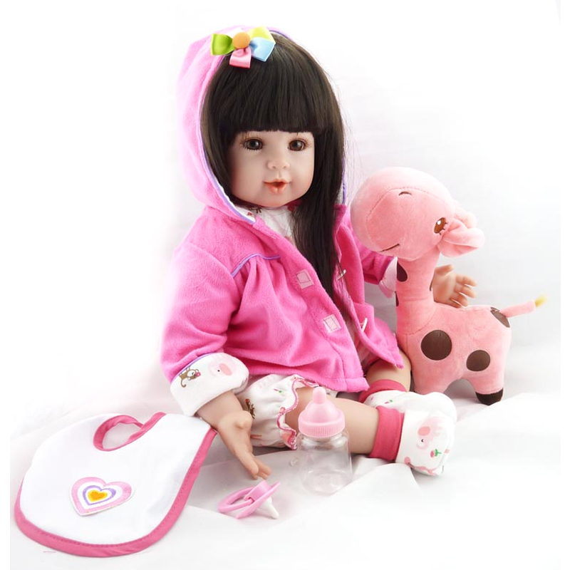 "Здесь продается  20"" New Reborn Doll Pink Clothes With A Toys Reborn Baby Silicone Lifelike Baby Dolls Kids Growth Partners Birth Reborn Juguetes  Игрушки и Хобби"