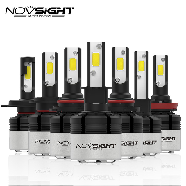 NOVSIGHT H4 H7 Led H11 H1 9005 9006 H3 H8 H9 COB LED Headlight 72W 9000LM Car LED Headlights Bulb Fog Light 6500K 12V