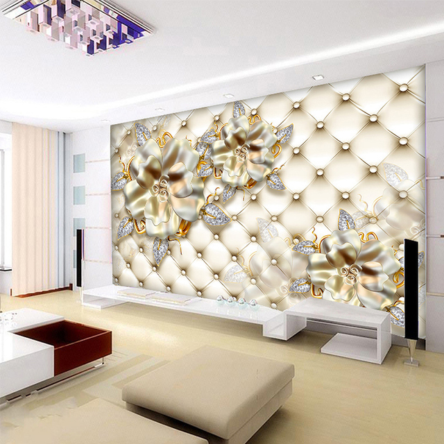 Foto 3d wallpaper wandbild decor Foto hintergrund licht gold ...