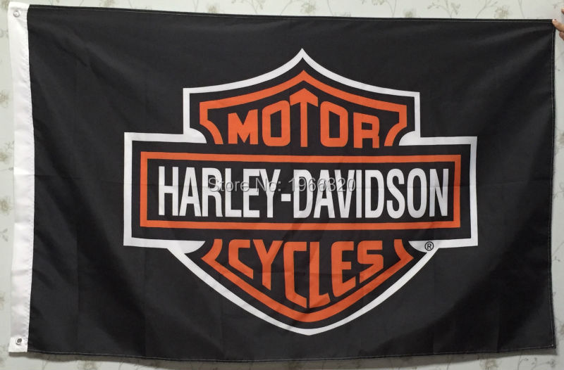 harley davidson motorcycle club banner flag 3ft x 5ft 144* 96cm