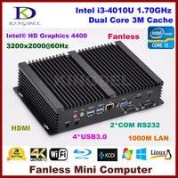 Micro PC Windows 10 / Linux Mini Industrial Computer Intel Core i3 4010u Barebone HTPC HDMI HD 4k+VGA RS232 COM RJ45 LAN+WIFI