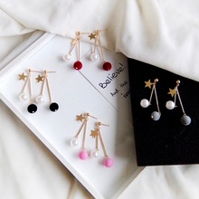 Fashion and lovely hair bulb temperament elegant pearl earring eardrop of female Female accessories