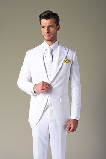 Top S New White Suit Wedding Dress The Groom Holds Best Man