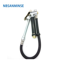 цены Hot Sale 1/4 Inch Air Inflator With Guage Gas Pressure Tire Pressure Gun For Inflating Car ,Light Truck And Bicycle Tires Sanmin