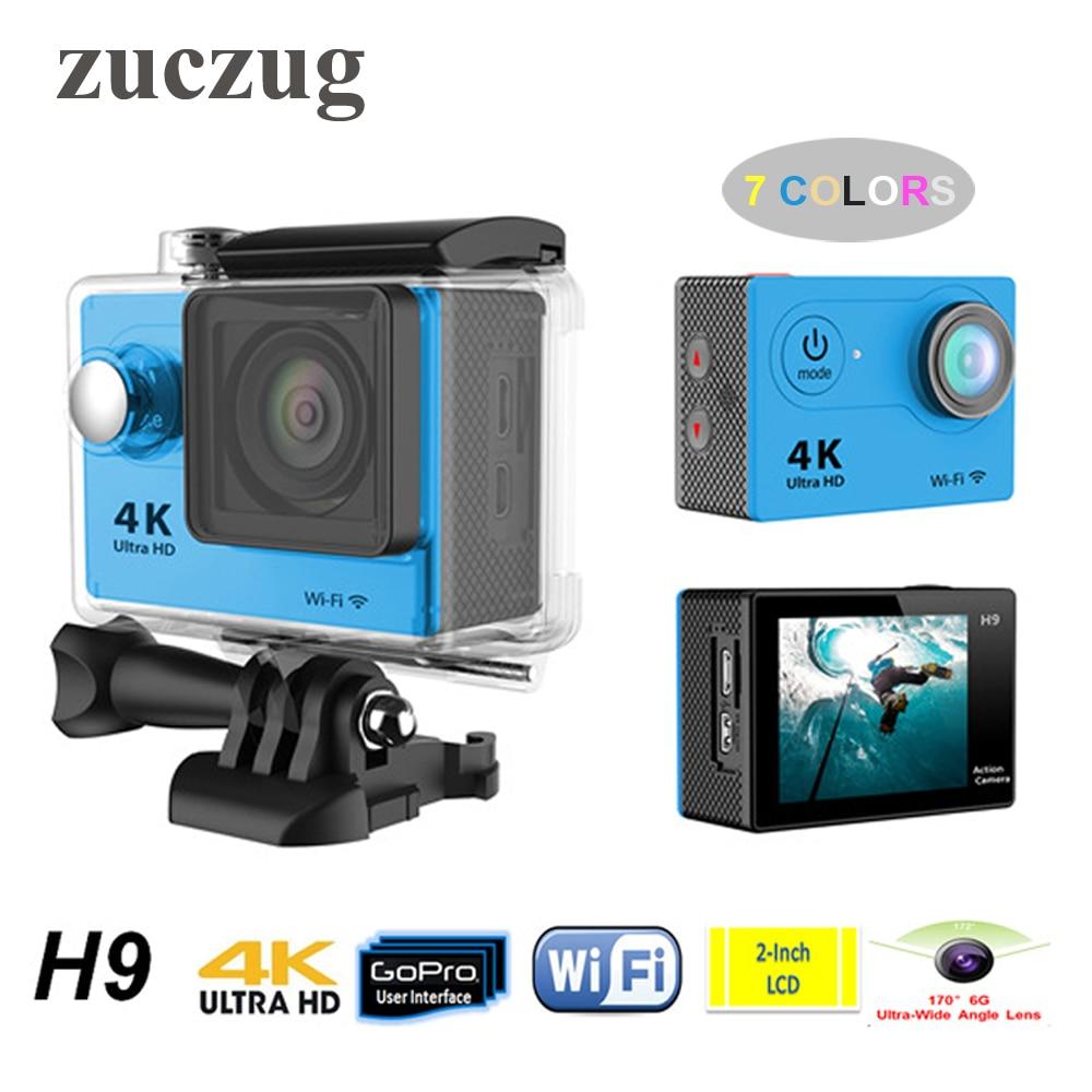 цена на ZUCZUG H9 Ultra HD 4K 1080P 12M WiFi Sport DV Action Camera Camcorder 30M Diving Waterproof DV Helmet Video Camcorder Mini DVR