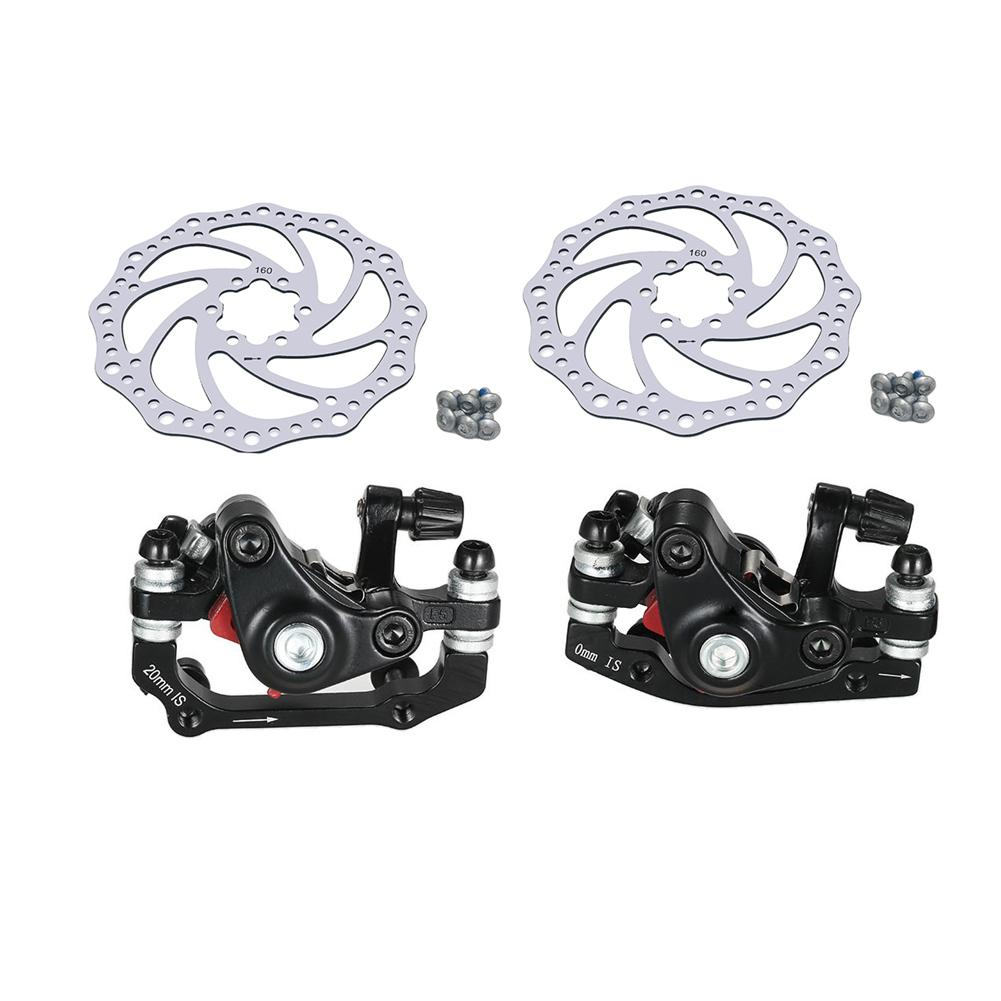 Mountain Bike Road Bike Bicycle Aluminum Alloy Mechanical Disc Brake Set Front & Rear Include 1pc 160mm Centerline Rotor bicycle 27 5 inches 24speed mountain bike aluminum alloy frame road bike front and rear mechanical disc brake spring fork
