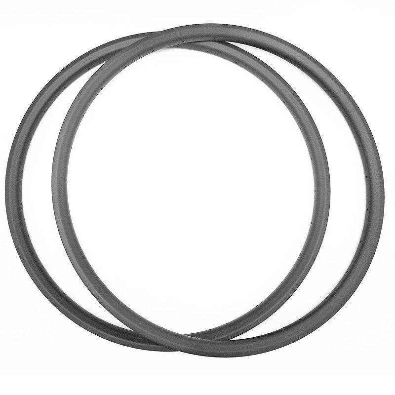 29er XC 35x25 millimetri hookless cerchi in MTB in carbonio bici da corsa senza camera d'aria della bicicletta della Montagna 28 H 32 H copertoncino UD 3 K 12 K opaco lucido