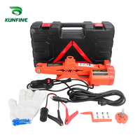 KUNFINE Portable 12V Car Jack 2Ton Electric Jack Auto Lift Scissor Jack Lifting Machinisms Lift Jack Muti Function