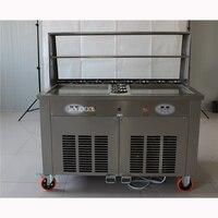 Доставка по морю Лидер продаж Двухместный pan обжаренные мороженого/закуски машина холодной мороженого 220 В /50 Гц 24 28L/ч