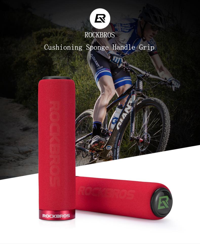 ROCKBROS Bicycle Grips MTB Silicone Sponge Handlebar Grips Anti-skid