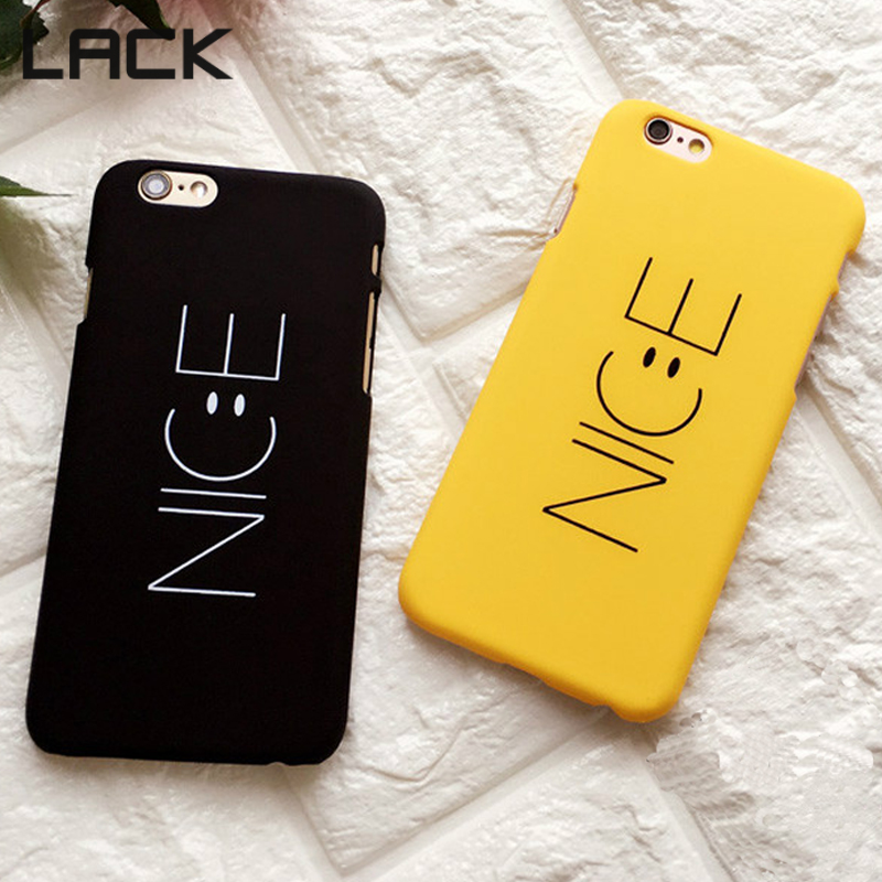 LACK Fashion Cartoon Nice Letter Case For iphone 6 6S 6Plus 4755 Phone Cases Funny Smile