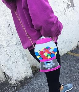 Image 3 - かわいいファッション菓子製造機puレーザーpu少女のクロスボディミニメッセンジャーバッグショルダーバッグハンドバッグ女性のフラップボルサハンドバッグ
