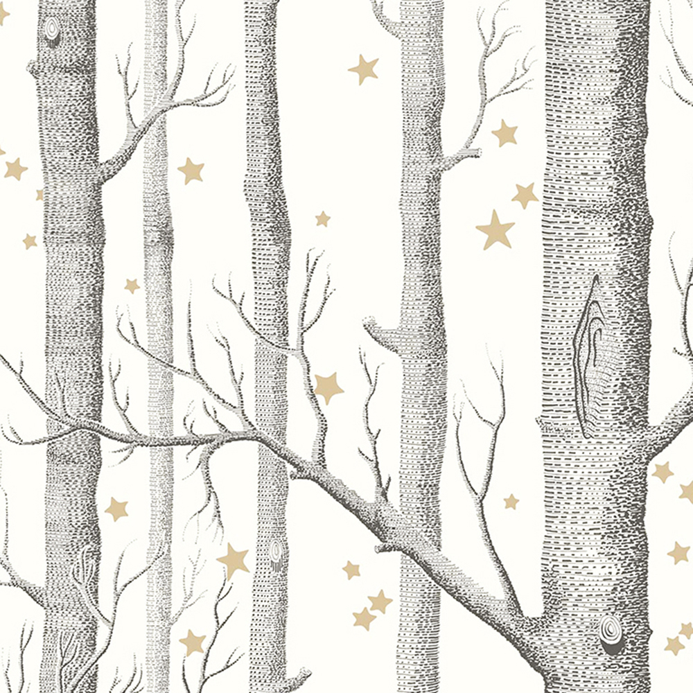 White Forest Birch Tree With Stars Wallpaper Tree Mural Photowall 3d Papeete Cuts Scandinavian  Style FLC46001