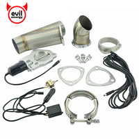 2 5 Size Stainless Steel Headers Y Pipe Electric Exhaust CutOut Kit With Manual Switch