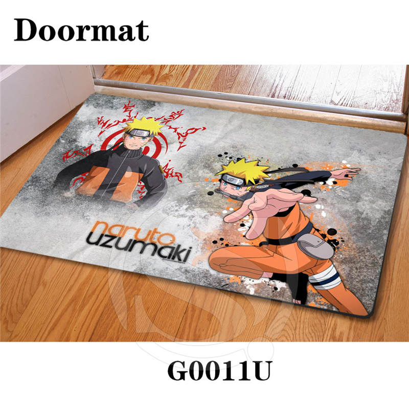 Free Shipping Custom Japanese anime naruto DoorMat Art Pattern Printed Carpet Floor Hall Bedroom Cool Pad Fashion Rug SQ0603-U90