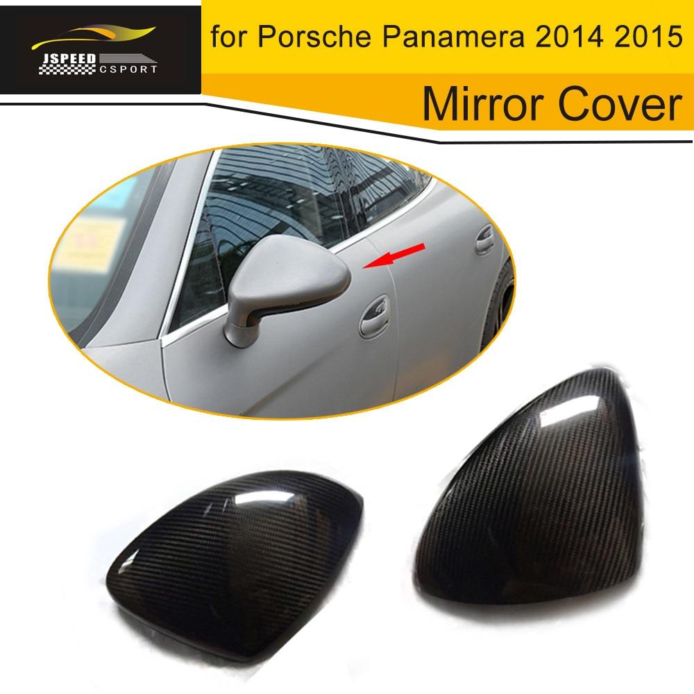 Carbon Fiber Car Side Mirror Cover Trim for Porsche Panamera 2014 2015