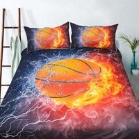 Wongsbedding Basketball HD Print Bedding Set Duvet Cover Bed Sheet Twin Full Queen King Size 3PCS