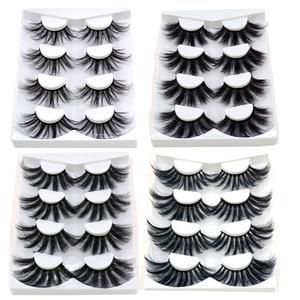 Image 2 - 4/9 Pairs 3D Mink Hair False Eyelashes Criss cross Wispy Cross Fluffy length 16 25mm Lashes Extension Handmade Eye Makeup Tools