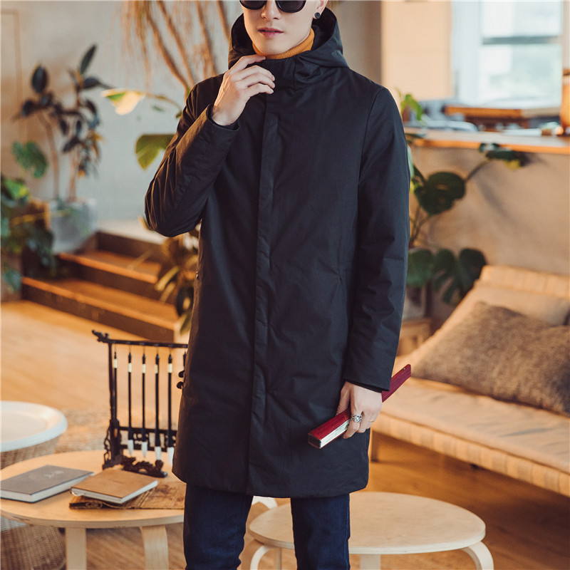 Men Winter Thicken Cotton Padded Jacket Male Fashion Casual Long Hooded Parka Coat Warm Overcoat 2017 new fashion winter jacket men long thick warm cotton padded jackets coat parka overcoat casual outwear jacket plus size 6xl