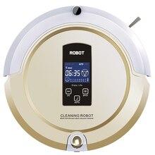 (Корабль из CN или ЕС) робот пылесос Авто развертки, Швабра, стерилизовать, ЖК-дисплей Сенсорный экран, по расписанию, Авто зарядка бесплатная доставка